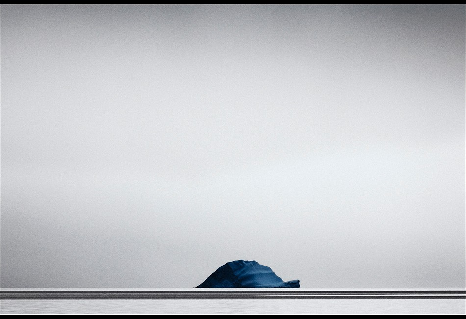Blue Iceberg on the Horizon